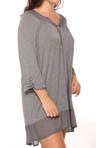 Poised & Poetic Plus Size Long Sleeve Sleepshirt