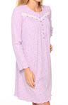 Lavender Meadow Long Sleeve Short Nightgown