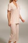 Tea & Crumpets Short Sleeve Capri Pajama Set