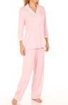 Floral Stationery 3/4 Sleeve Pajama Set