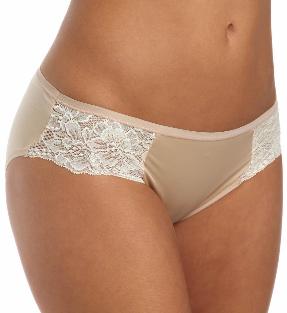 Bali 2829 One Smooth U Comfort Satin Lace Bikini Panty