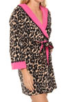 Double Faced Microfleece Robe with Hoodie