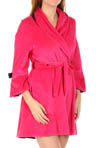 Velour Robe with Satin Rosettes