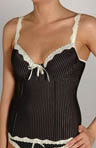 9 to 5 Pinstripe Microfiber with Lace Bustier