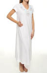 Airbrushed Rose Stencil Soft Jersey Long Gown