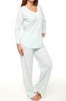 Vintage Rose Tiles Long Sleeve Pajama