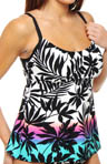 Sunset Harbor Peasant Tankini Swim Top