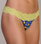 Ever Printed Daisy Low Rise Thong