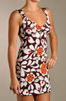 Jourdana Brown Stencil Chemise Dress