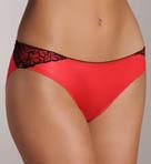 Satin and Lace Low Rise Bikini Panty