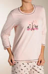 Love Affair Collection Scoop Neck Long Sleeve Tee