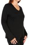 Softwear Lace Edge Long Sleeve V Neck Plus Size