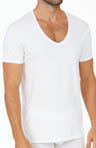 Pima Cotton Stretch V-Neck Tee
