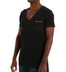 Jesse Cotton Stretch Deep V-Neck T-Shirt