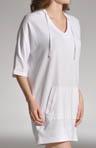 3/4 Sleeve Sleepshirt With Hood
