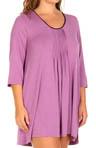 Seven Easy Pieces Plus Size 3/4 Sleeve Sleepshirt