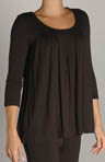 Seven Easy Pieces 3/4 Sleeve Pleated Top