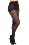 Dot Mesh Control Top Tights