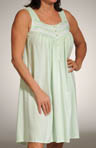 Flowering Arbor Sleeveless Button Front Nightgown