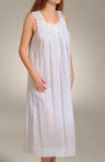 Mist On The Water Sleeveless Long Nightgown