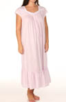 Plus Size Love's Blossom Cap Sleeve Long Nightgown