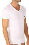 Pima Rib Stretch Cotton V-Neck