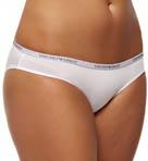 Caresse Light Solid Microfiber Logo Brief Panty