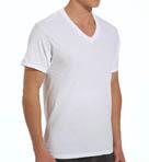 Mens Core 100% Cotton V-Neck T-Shirts - 3 Pack