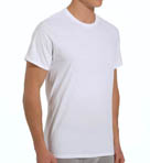Mens Core 100% Cotton Crew White T-Shirts - 3 Pack