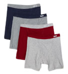 Big Man Covered Elastic Boxer Briefs - 4 Pack