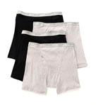 Big Man Core 100% Cotton Basic Boxer Brief- 4 Pack