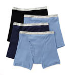 Big Man Core 100% Cotton Basic Boxer Brief- 4 Pack