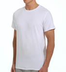 Mens Core 100% Cotton Crew White T-Shirts - 5 Pack