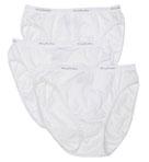 Ladies' Cotton Hi Cut White Panties 3 Pack