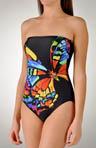 The Empress Bandeau One Piece Swimsuit