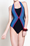 Electric Halter One Piece Swimsuit
