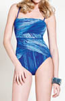 Metallics Bandeau One Piece Swimsuit