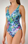 Paradise V-Neck One Piece Swimsuit
