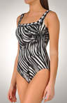 Madagascar Square Neck One Piece Swimsuit