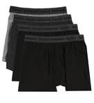 Black and Grey Slim Fit Boxer Briefs - 4 Pack