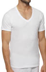 Slim Fit White V-Neck T-Shirt