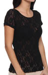 Signature Lace Unlined Short Sleeve Top