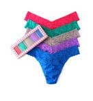 Sparkle Box Lace Original Rise Thong - 5 Pack