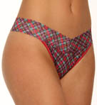 Red Plaid Original Rise Thong