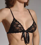 After Midnight Peek-A-Boo Lace Front Tie Bralette