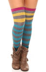 Rugby Stripe Over The Knee Sock