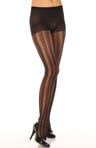 Ornate Double Stripe With Control Top Pantyhose