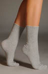 Scalloped Pointelle Sock