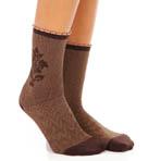 Flocked Brocade Sock