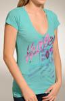 Washed Up Perfect V Heathered T-Shirt